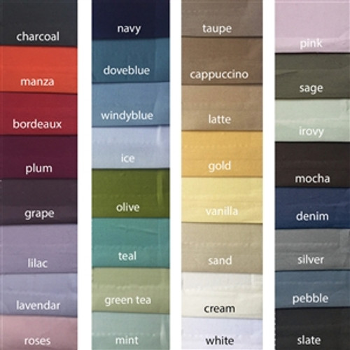 Flat Sheet Egyptian Cotton *ALL COLORS*