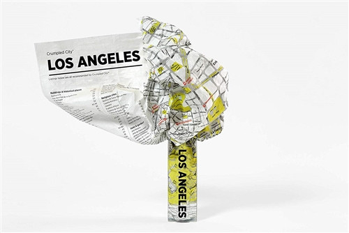 Los Angeles Crumpled City Map by Palomar