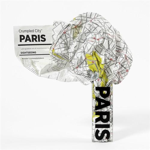 Paris Crumpled City Map by Palomar