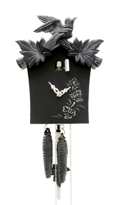 Modern Cuckoo Clock in BLACK