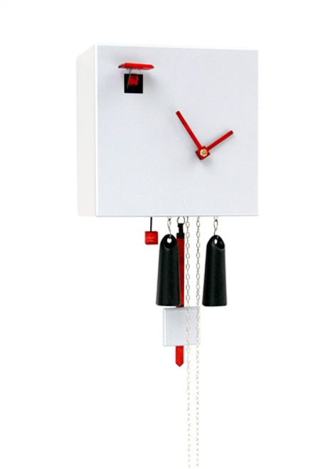 Modern Cuckoo Clock Diamond in WHITE