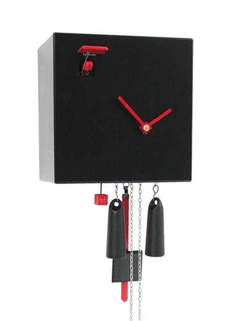 Modern Cuckoo Clock Diamond in BLACK