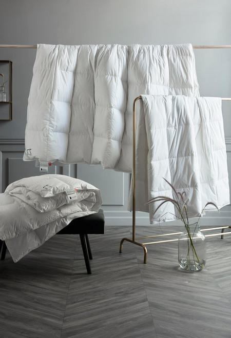 "Scandinavian GOOSE Down Comforter ALL YEAR US KING 108x98"" fill power 800"