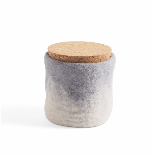 Wool Felted Jar *grey*2