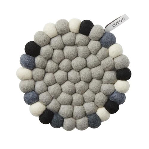 Aveva Design Wool Felt Ball Trivet Hot Pad *Grey Black White*