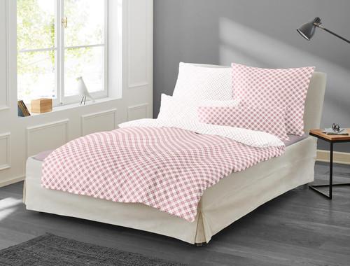 """Duvet Cover Set """"BEA"""" pink rose"""