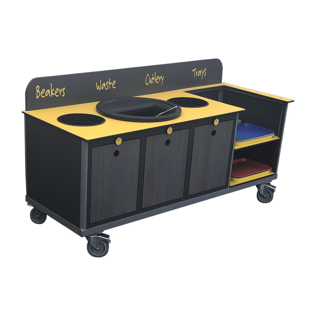 Aqua Smart Clearing Trolley With Cutlery Catcher