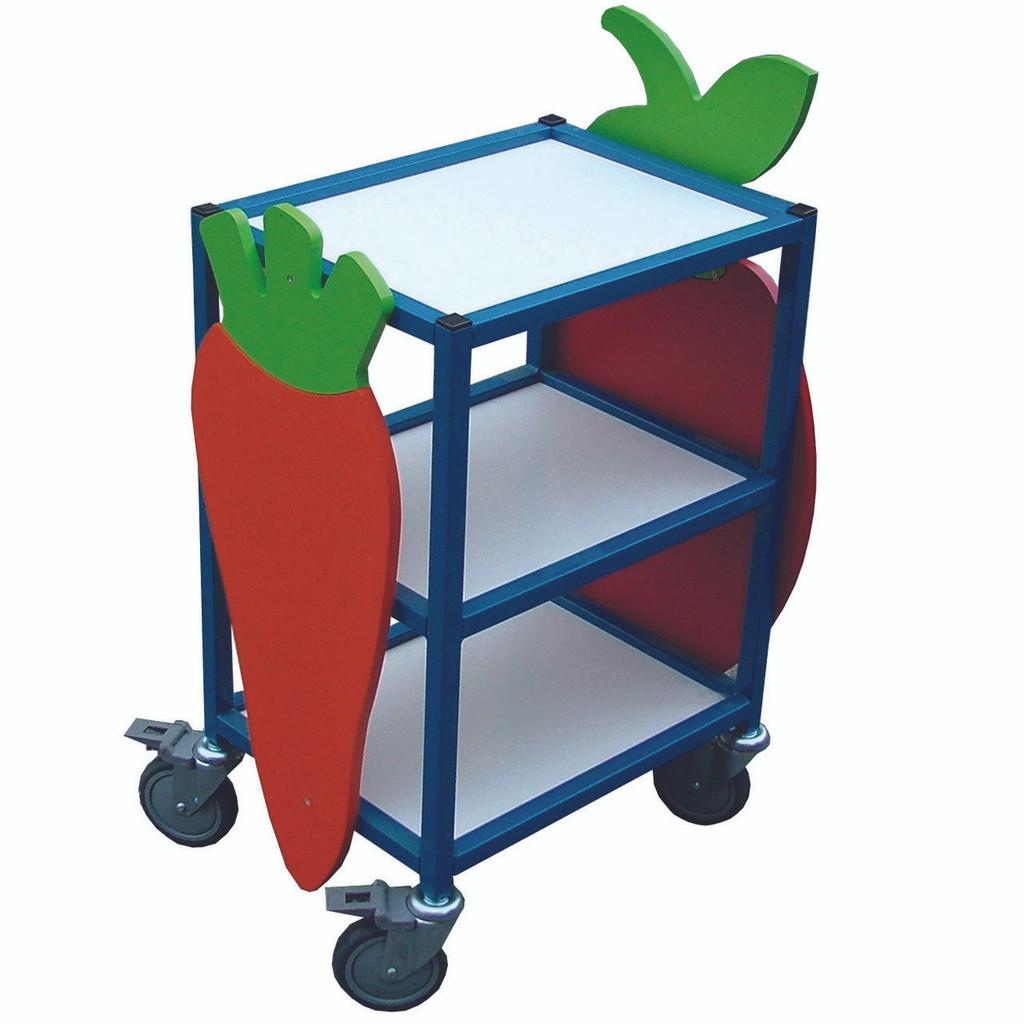 Mini 3 Tier Flat Shelf Trolley