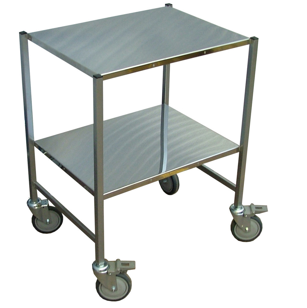 Lightweight stainless steel trolley