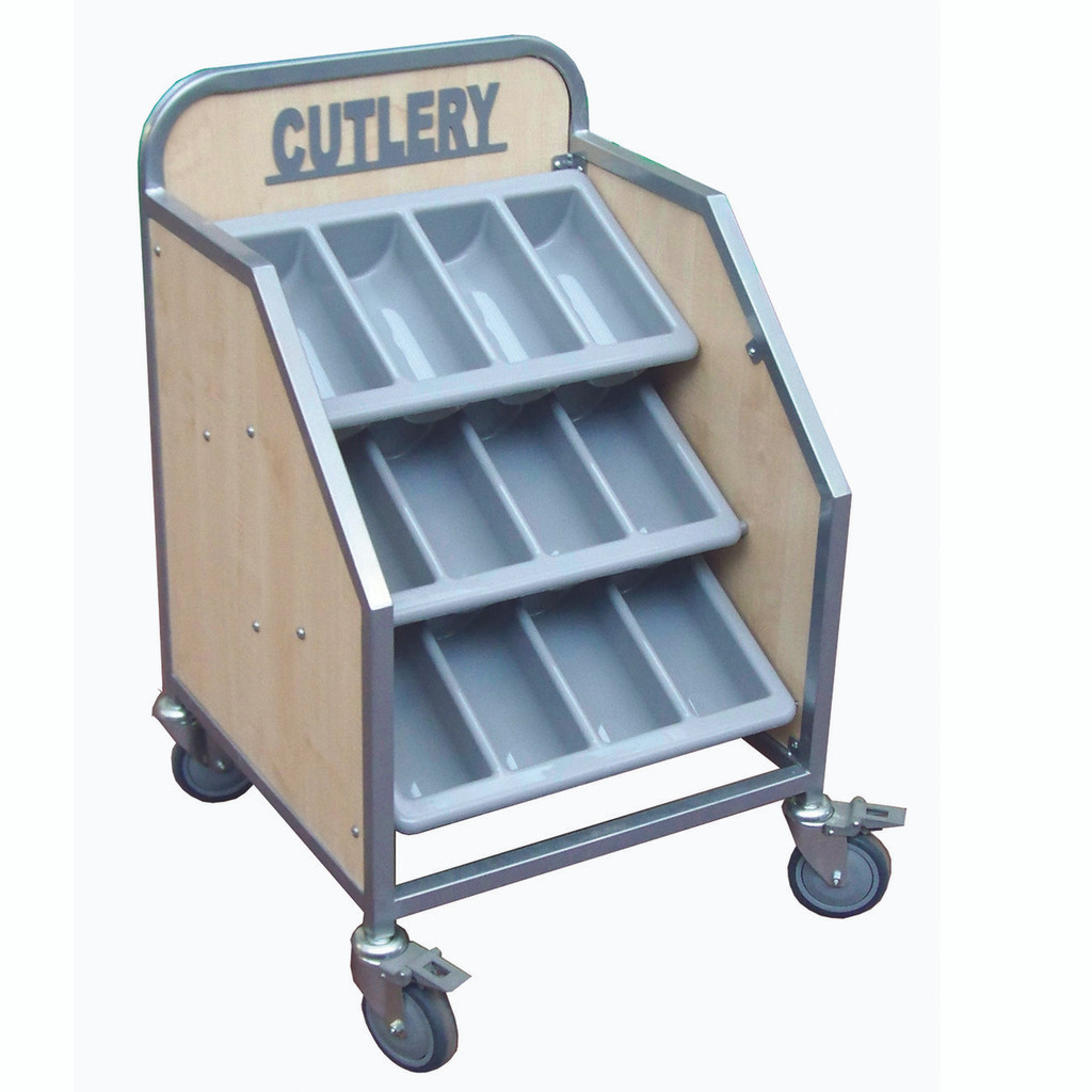 Wooden Cutlery Trolley