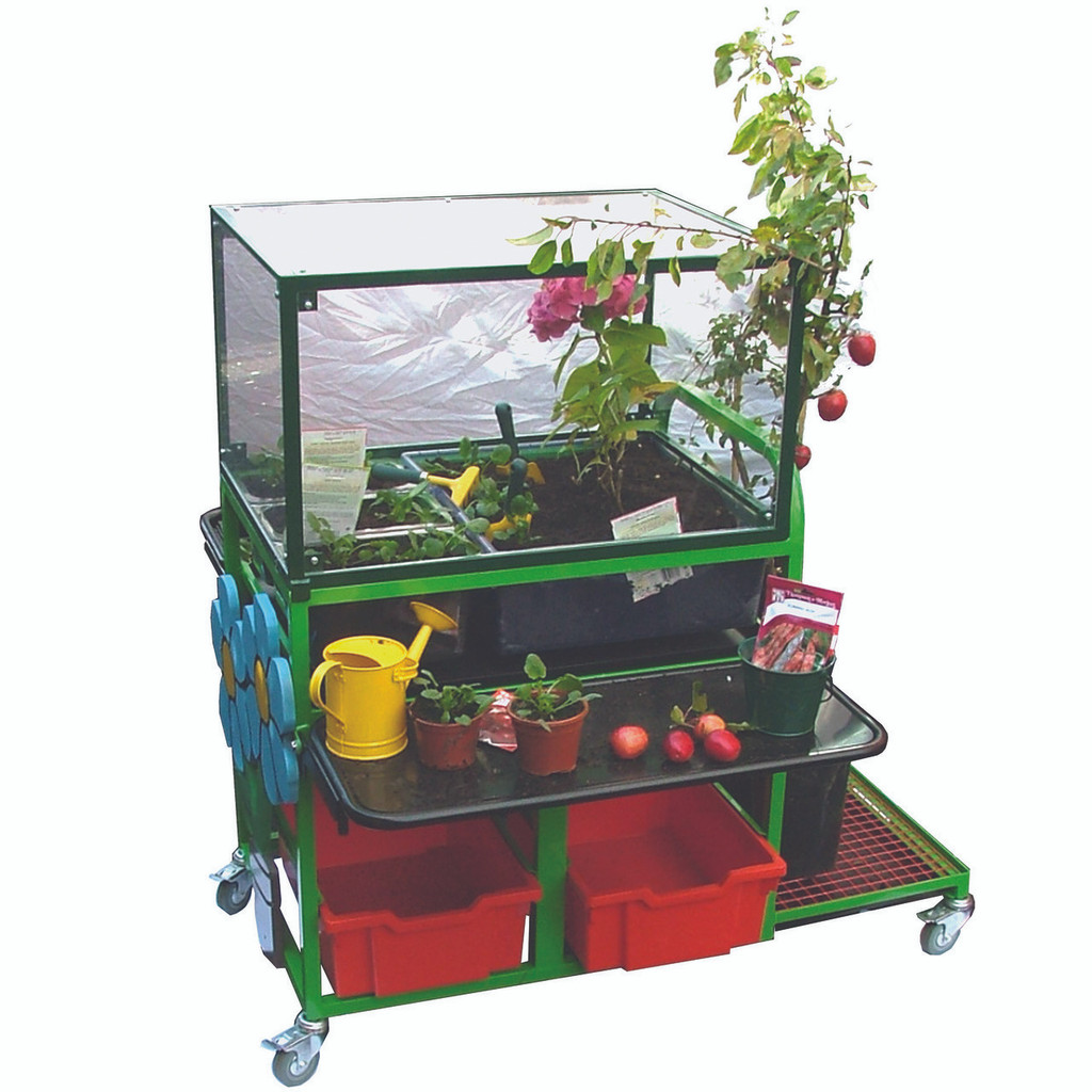 Garden Trolley with Greenhouse cover