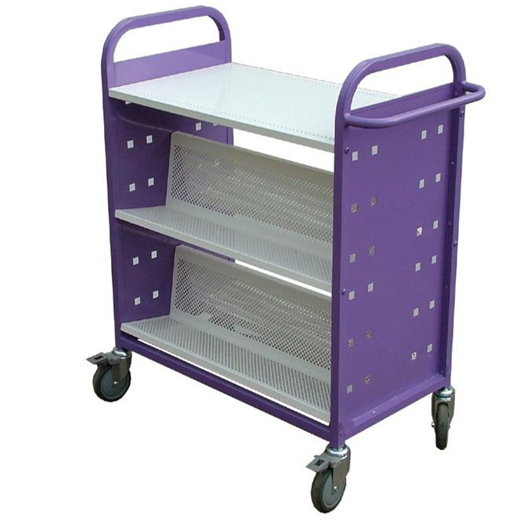 Double sided Flat Top Shelf Trolley