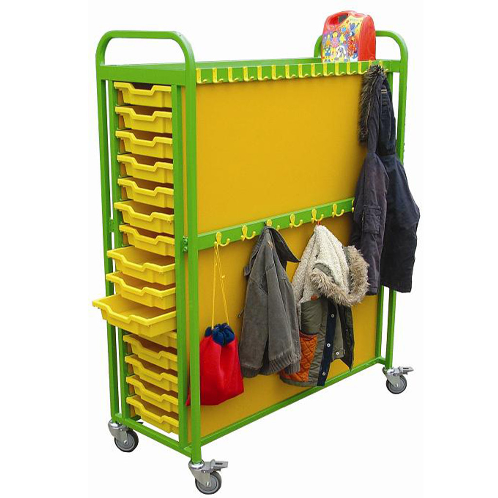 Cloakroom Trolley with Large Capacity Storage