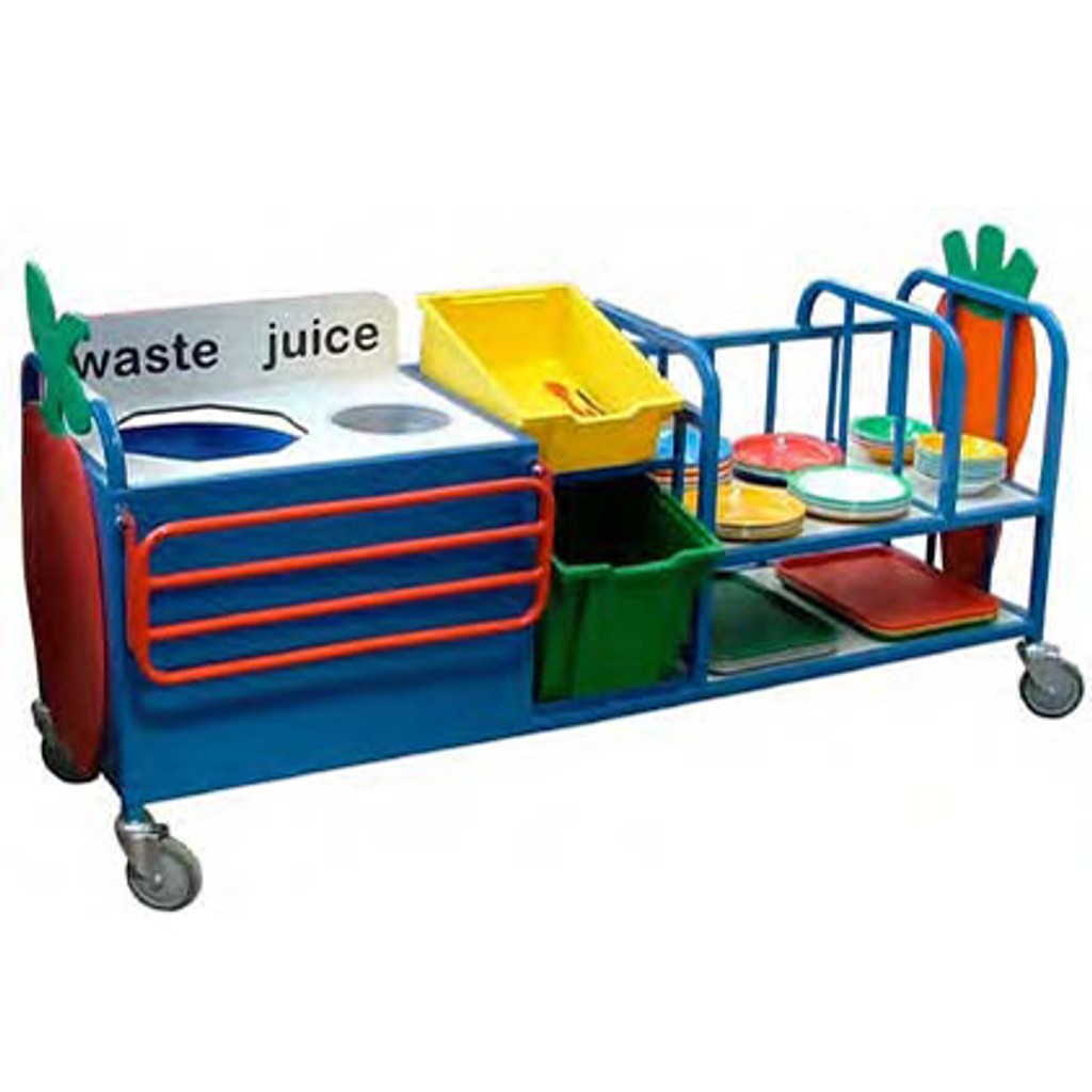 Combi clearing trolley with juice funnel