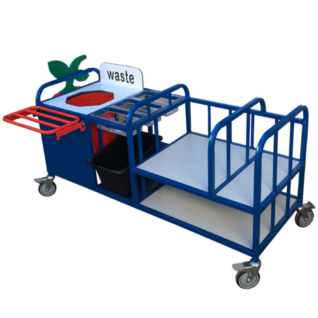 Extended Clearing Trolley With Cutlery Trays (34SDJN)