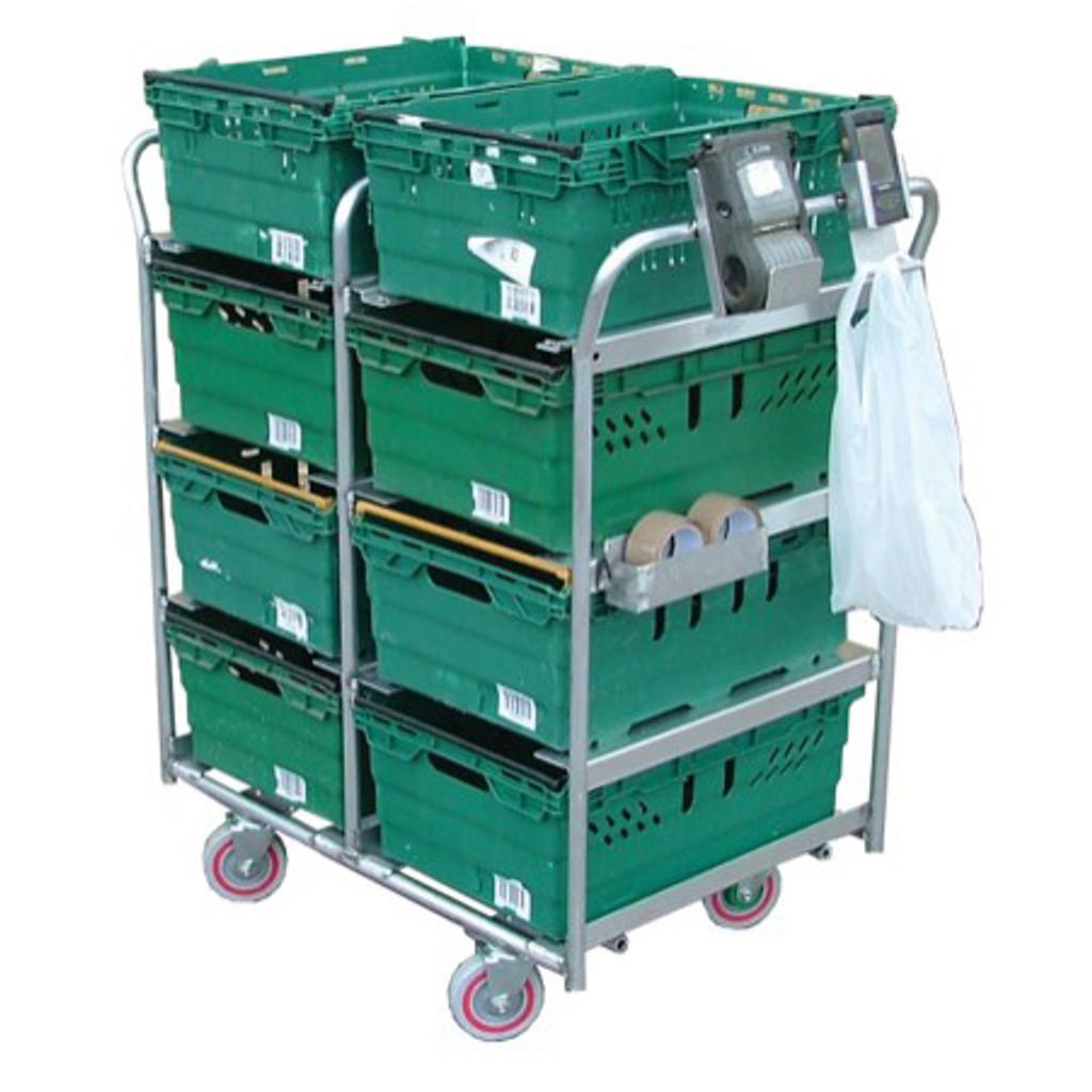 8 Box Aluminium Picking Trolley (BXAP8)