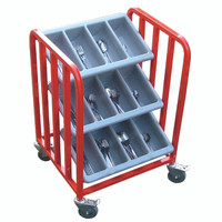 3 Tier Knife and fork Trolley, one novelty fruit included, additional fruit for opposite end available