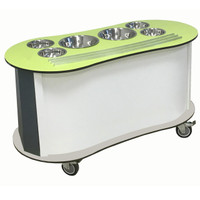 Curved Salad Bar - green