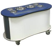 Curved Salad Bar - blue