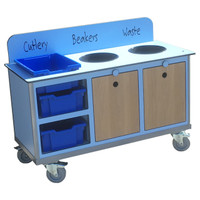 Aqua Smart Compact Clearing Trolley (CTT08) - Blue