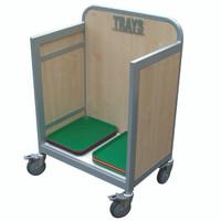 Wooden Tray Trolley