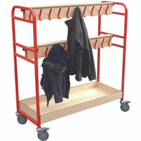2 tier cloakroom Trolley