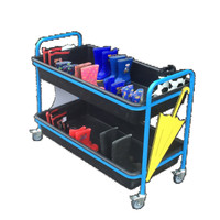 Cloakroom Welly Trolley With Tray (2WUL)