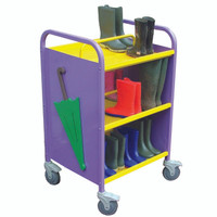 Compact Cloakroom Welly Trolley (3WEL)
