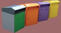 2 part metal book returns bin (BRNOH4)