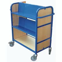 Wood & Aluminium Book Trolley (ALM9)