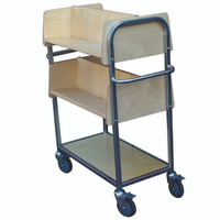 Wood and steel trolley