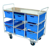 9 box Aluminium trolley