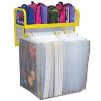 Wall Mounted Large Book Hanging Rack (5HBB)