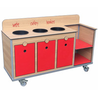 Aqua Smart Oak Clearing trolley
