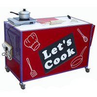Cooker Trolley with Extending Table