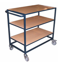 3 flat shelf trolley