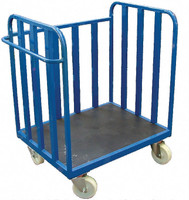 3 sided flat base trolley with large  wheels (FSKY1)
