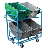 4 Large Tote Box Trolley (TOB7)