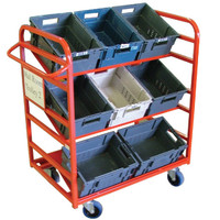 6 large tote box trolley