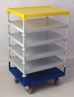 Stillage Trolley - Individual Shelves