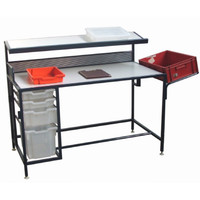 Work Bench with Pull Out Plastic Drawers (WBWD2)