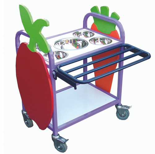 Mini Salad Bar shown with additional fruit and trolley in purple (1MSBCN)
