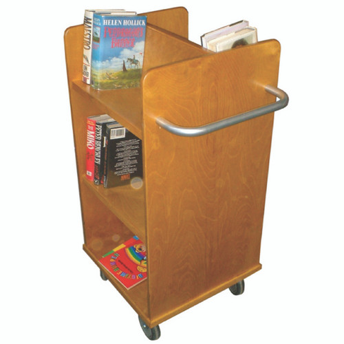 Solid Wood Book Trolley