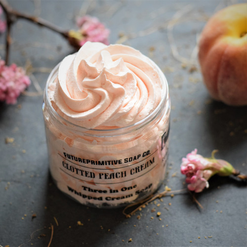 Clotted Peach Cream Whipped Soap