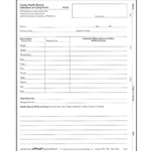 Camp Health Record Individual at Camp Form