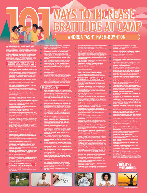 101 Ways to Increase Gratitude at Camp