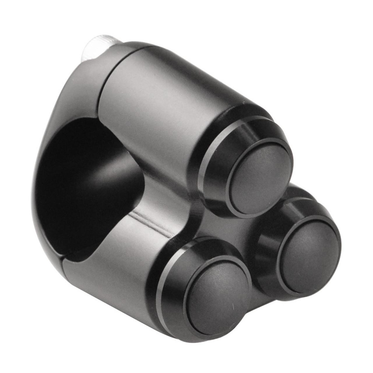 Motone 2-Button Handlebar Switch 1 Bars Black
