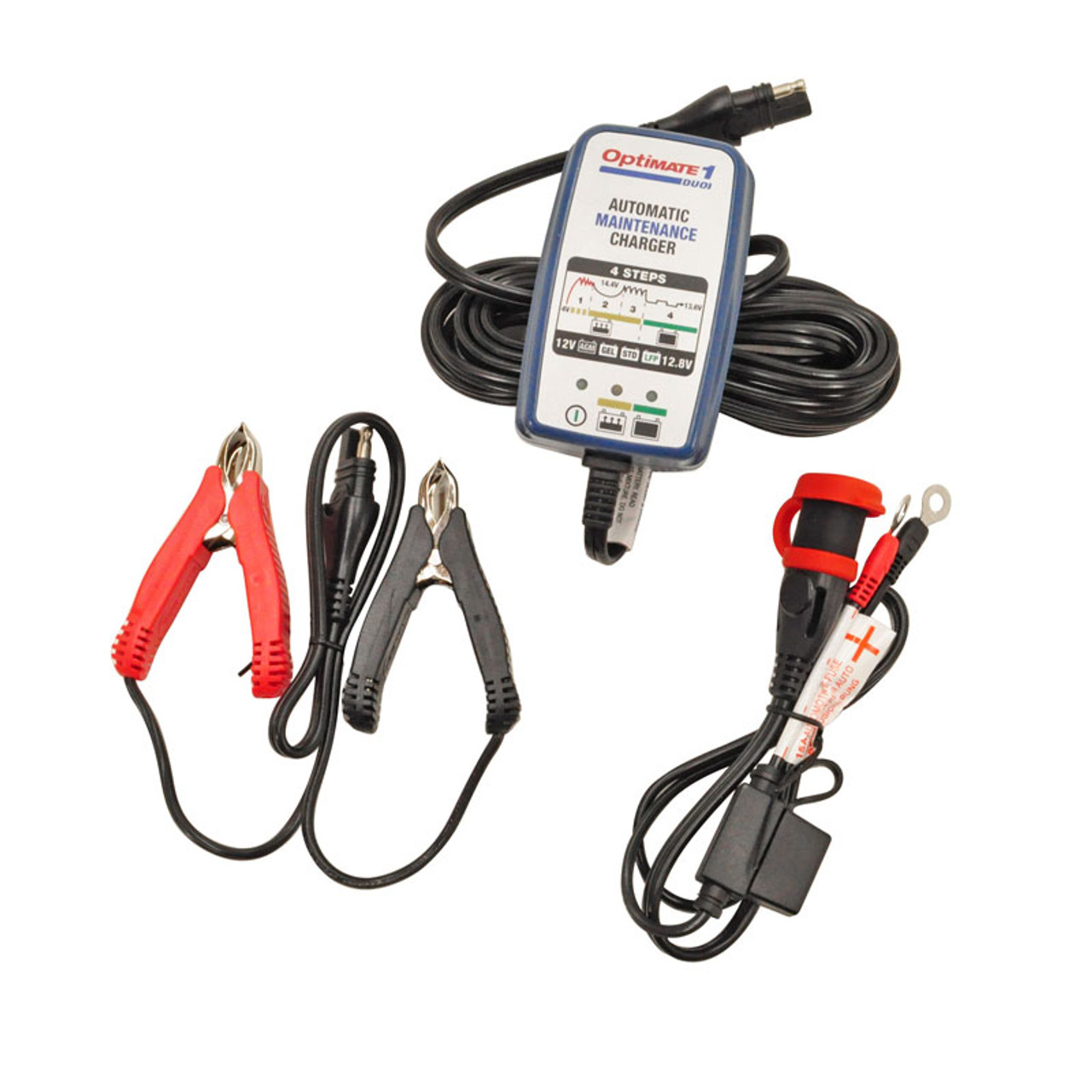 Optimate© TM-409 Battery Charger / Maintainer - Works with All 12-Volt  Lithium Batteries -  6 Amps