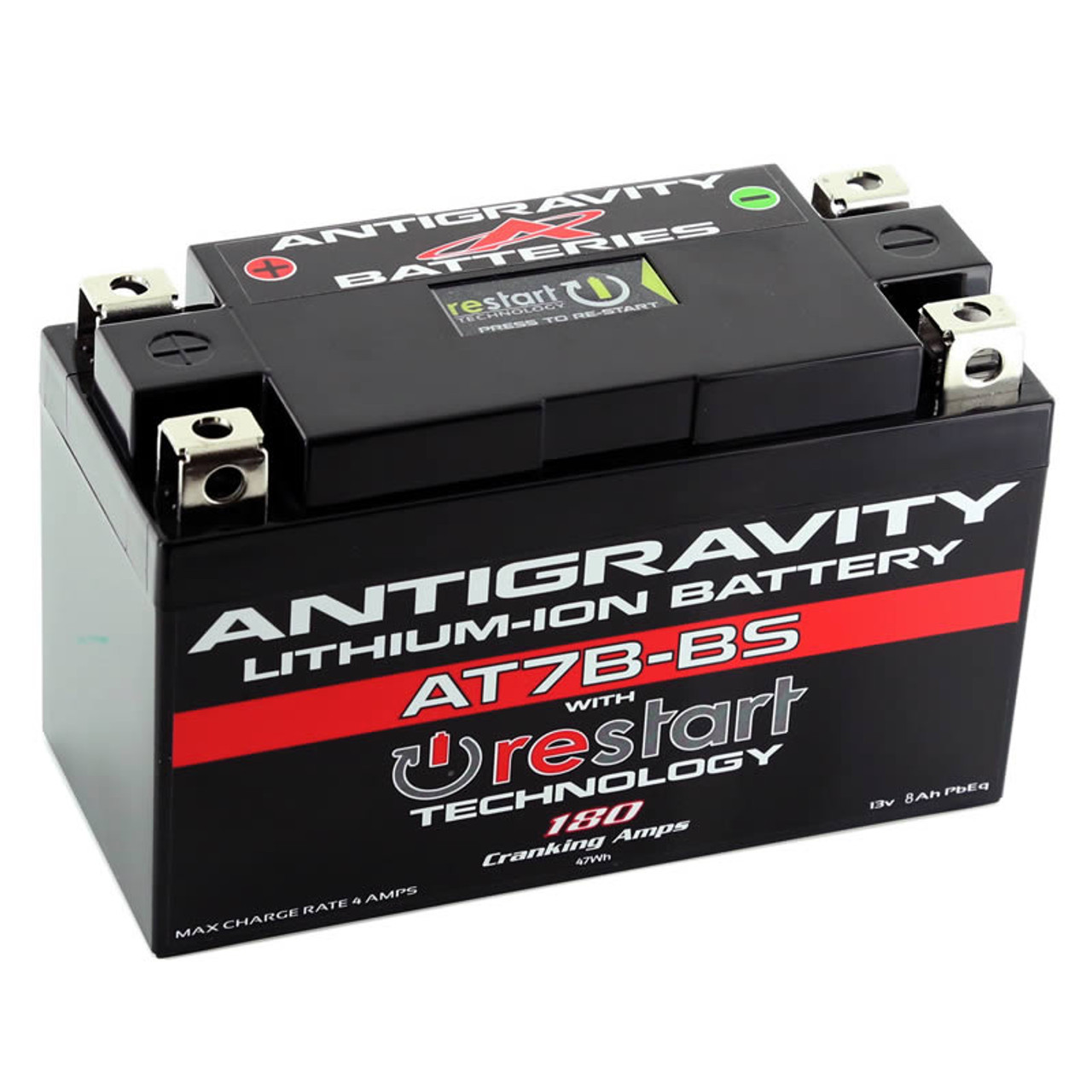 Antigravity Batteries® AT7B-BS RS Lithium Ion Battery w/ BMS and Re-Start  Technology - Fits All Ducati© Panigale Models - Replaces YT7B-BS, YT9B-BS