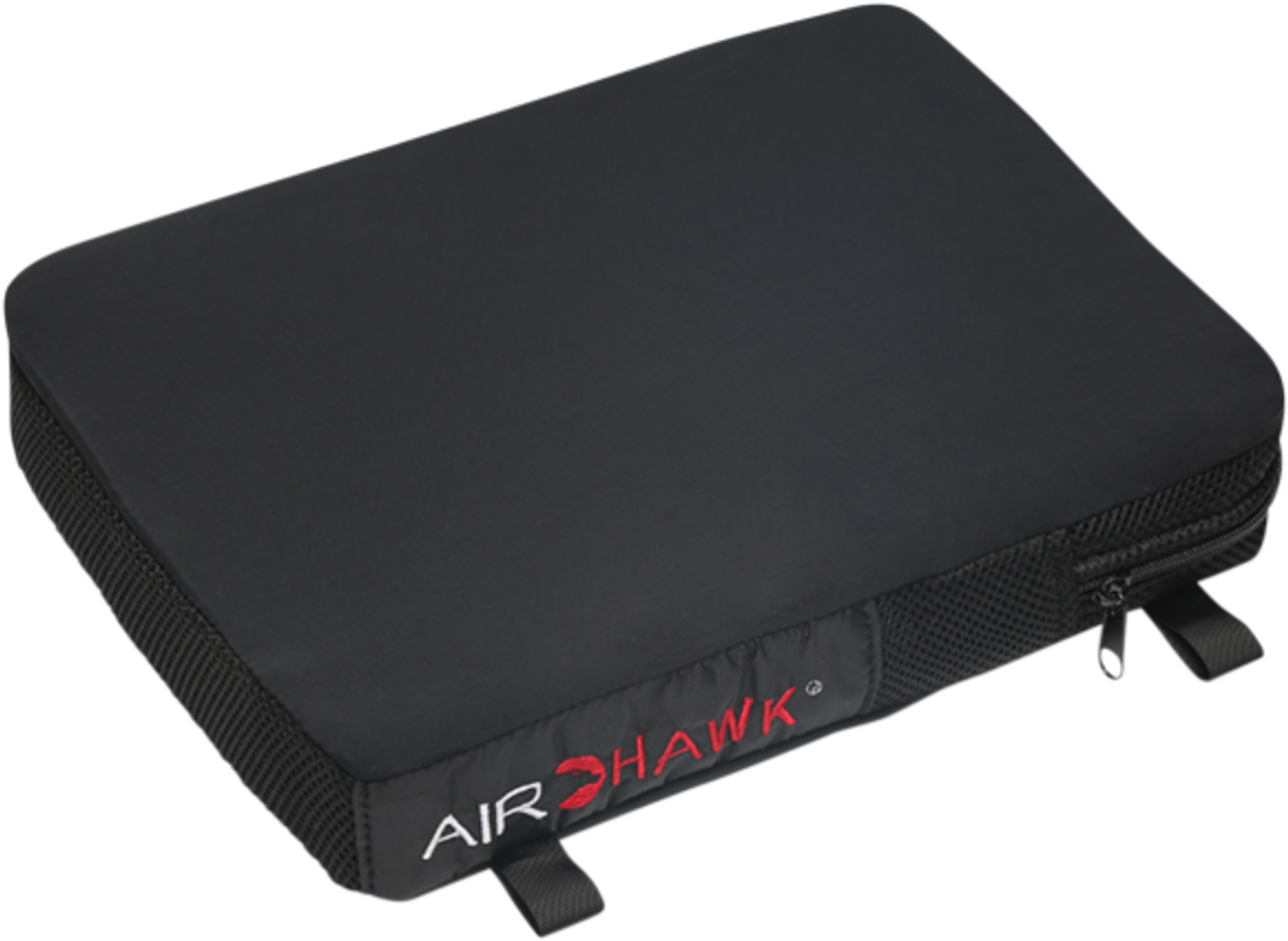 Airhawk 2 Comfort Seating System Seat Cushion Cruiser Pillion Inflatable Seat Cushion With Black Cover Made In The Usa